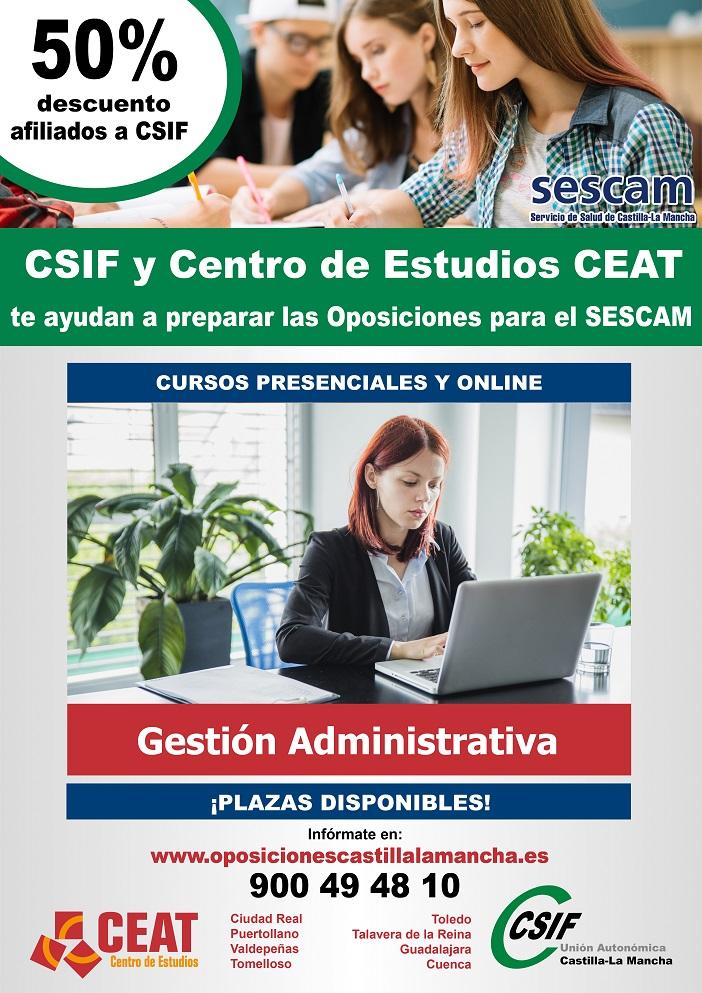 Cartel Oposicion Gestión Administrativo 2018
