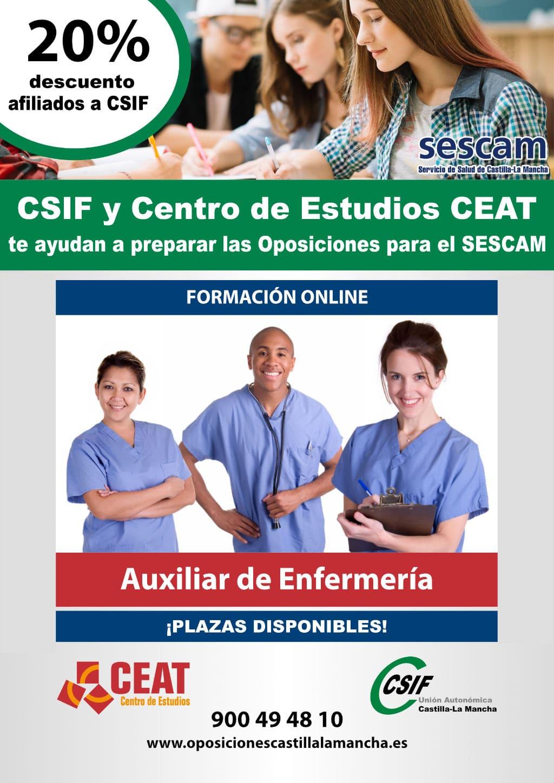 Oposicion auxiliar enfermería SESCAM
