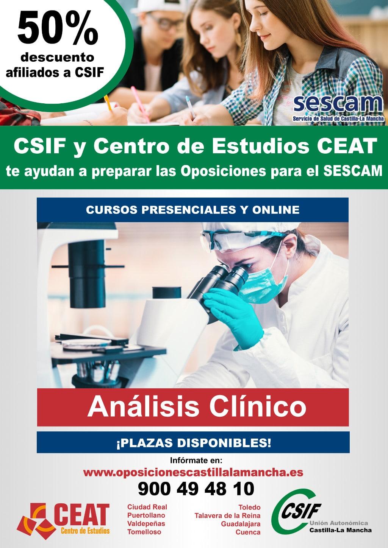 Oposición análisis clínico SESCAM