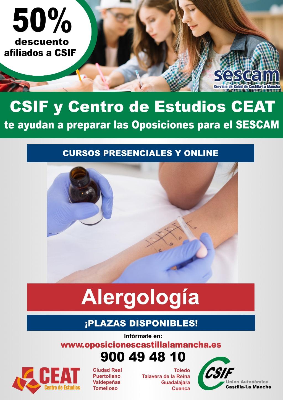 Oposiciones alergología SESCAM