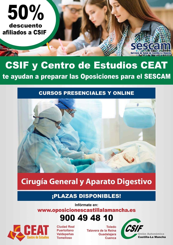 Oposiciones cirugía general y aparato digestivo SESCAM