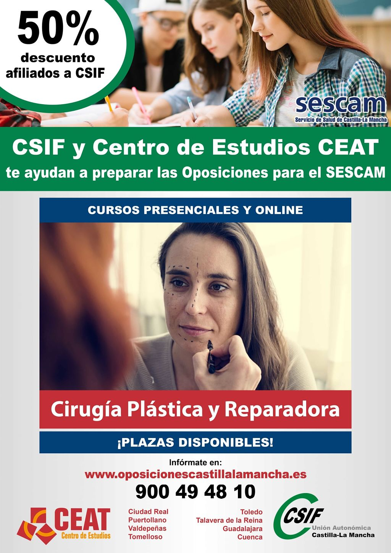 Oposiciones cirugía plástica reparadora SESCAM