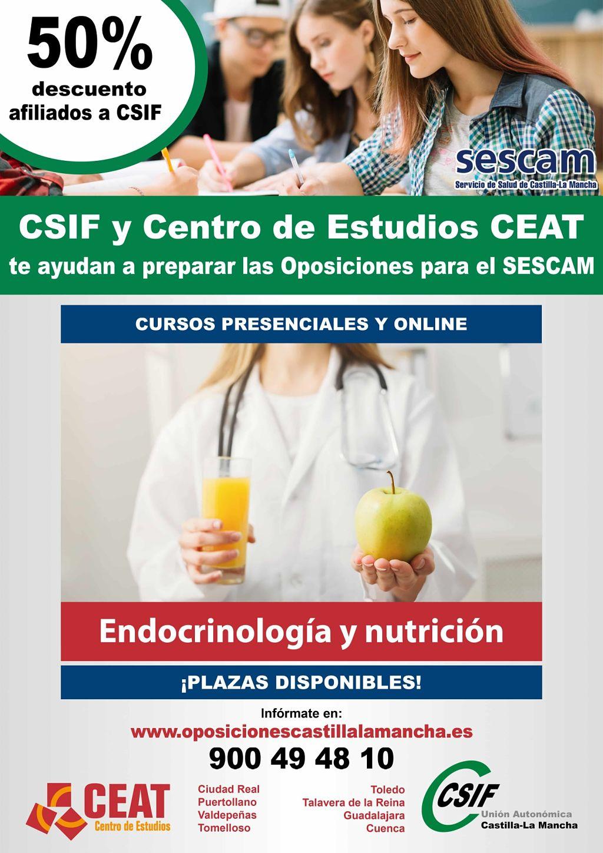 Oposiciones endocrinología nutrición SESCAM