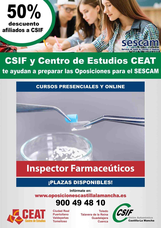 Oposiciones inspector farmacéuticos SESCAM