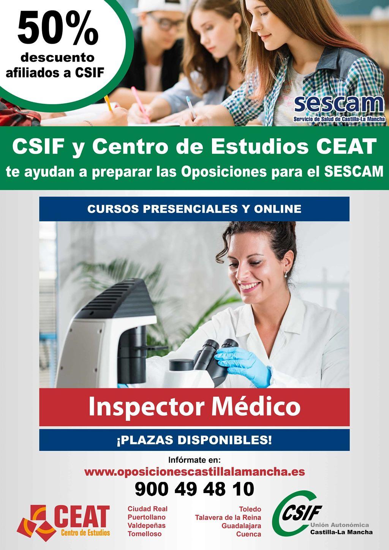 Oposiciones inspector médico SESCAM
