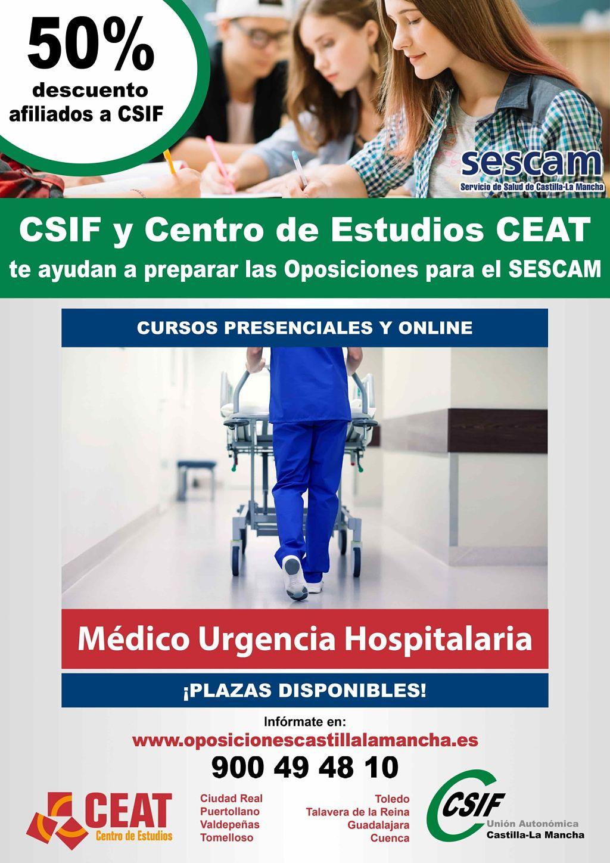 Oposiciones médico de urgencia hospitalaria SESCAM