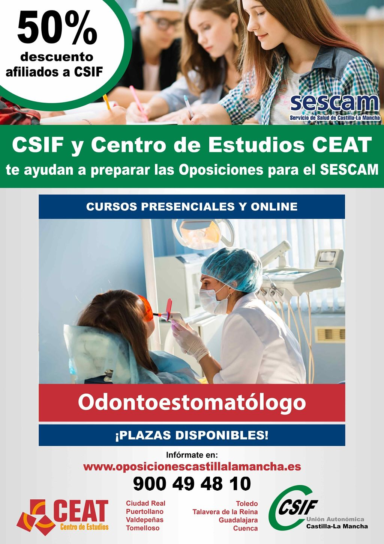 Oposiciones odontoestomatólogo SESCAM