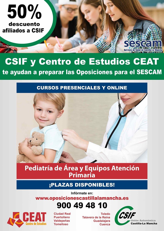Oposiciones pediatría de área y equipos atención primaria SESCAM