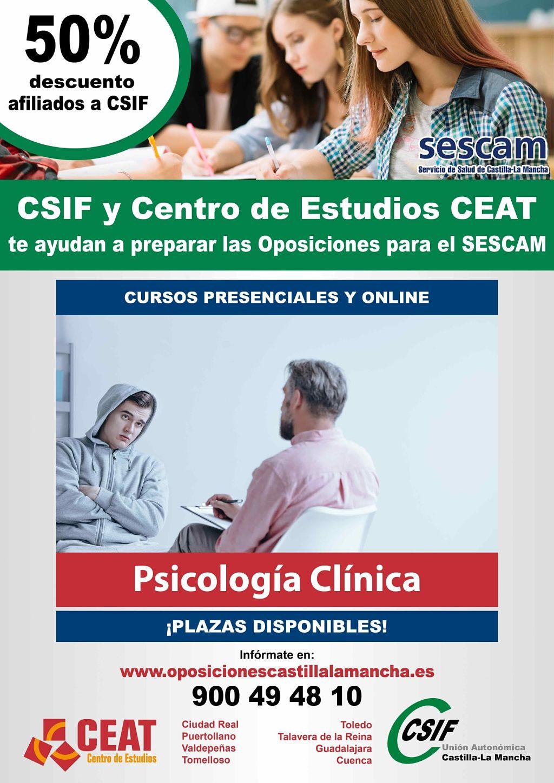 Oposiciones psicología clínica SESCAM