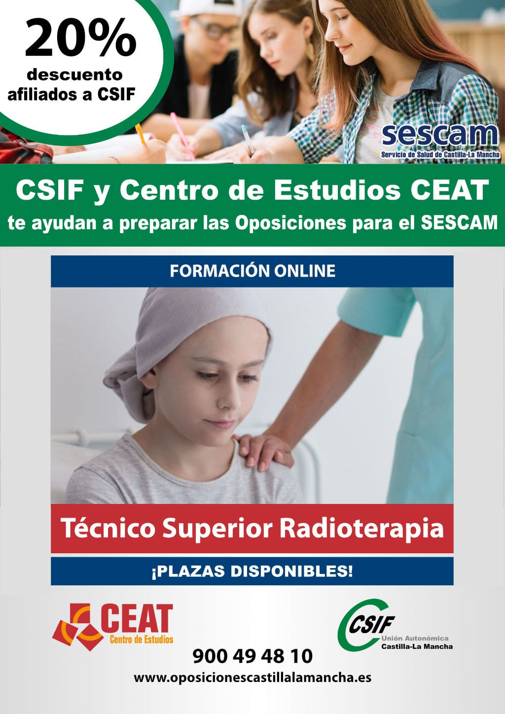 Oposiciones técnico superior radioterapia SESCAM