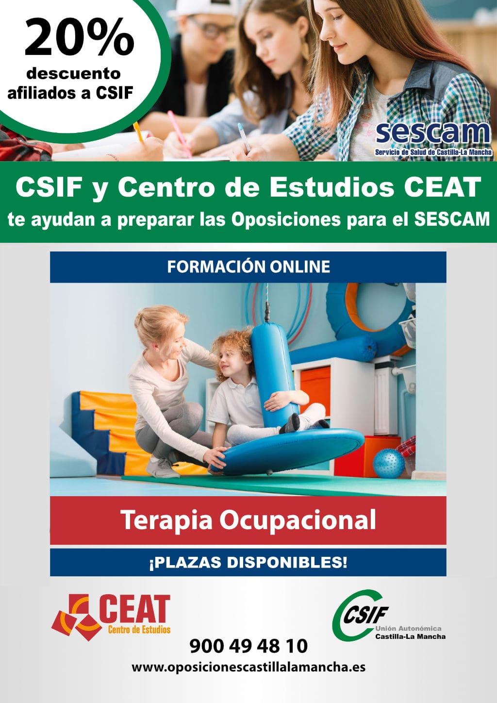 Oposiciones terapia ocupacional SESCAM