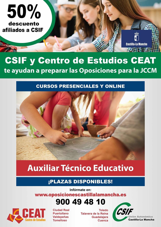 Oposiciones auxiliar técnico educativo JCCM