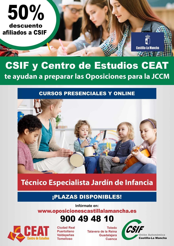 Oposiciones técnico especialista en jardín de infancia JCCM