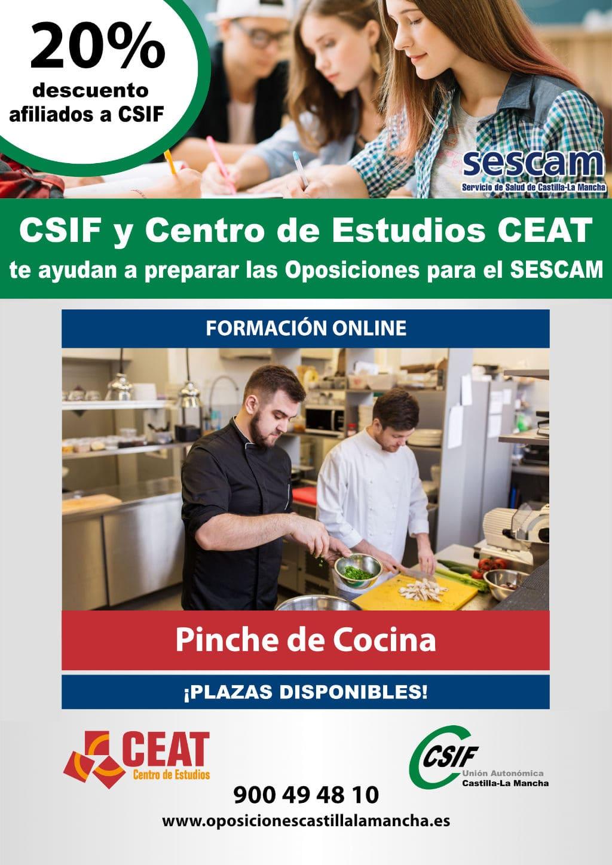 Oposiciones pinche de cocina SESCAM